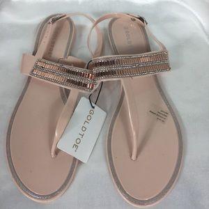 Gold Toe Sandals Creamy Blush